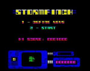 Stormfinch - Menü