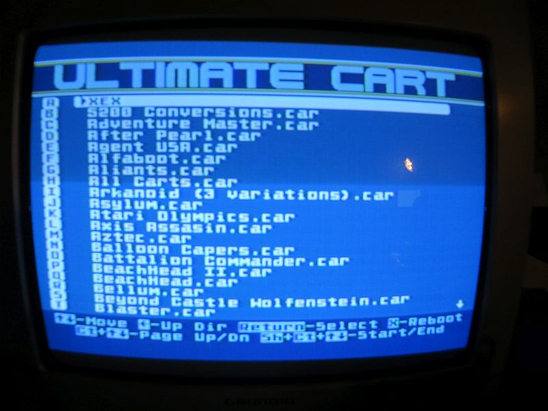 Ultimate Cart - Menü