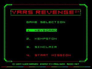 Yars Revenge - Menü